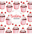watercolor happy birthday background vector image