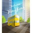 Welcome to Hong Kong vector image