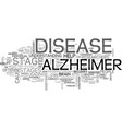 what are the stages of alzheimer s disease text vector image vector image