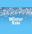 winter sale concept background realistic style vector image vector image