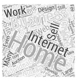 Work from Home Successful Internet Businesses Word vector image vector image