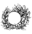 Wreath of fantasy leaves vector image vector image