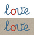 embroidered sign love vector image