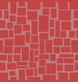 seamless background with red uneven rectangle vector image
