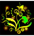 Abstract yellow flower vector image