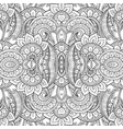 seamless abstract black and white tribal pattern vector image