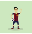 soccer player in club uniform vector image