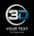 abstract 3d text shape icon logo 3d shape vector image vector image
