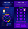abstract future interface banner set vector image vector image