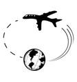 air travel world round symbol vector image vector image