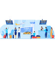 airport services flight crew and passengers vector image vector image