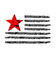 American flag grunge celebration Independence Day vector image vector image