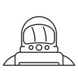 astronaut icon outline style vector image