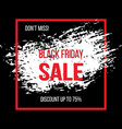 black friday sale banner for advertising vector image vector image