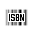 black isbn sign with barcode vector image vector image