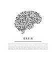 Brain isolated vector image
