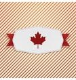 Canada Flag symbol realistic Tag vector image vector image