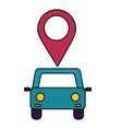 car vehicle transport navigation pin vector image