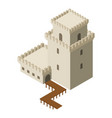 castle icon isometric style vector image vector image