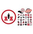 Chess Strategy Flat Icon with Bonus