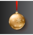 Christmas ball on dark background vector image vector image