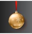 Christmas ball on dark background vector image
