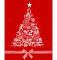 christmas tree2 vector image vector image