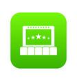 cinema icon digital green vector image