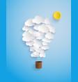 cloud shape balloon vector image vector image