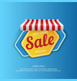colorful hexagon sticker promoting sale vector image vector image