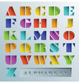 Colorful Hole Alphabets Font Style vector image vector image