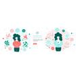 concept banner about benefits probiotics vector image vector image