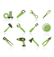 construction type icons vector image vector image