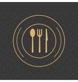 cutlery on dish emblem image vector image