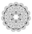 decorative ethnic mandala pattern anti-stress vector image vector image