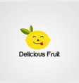 delicious fruit logo icon element and template vector image vector image
