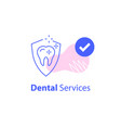 dental clinic strong teeth protection vector image