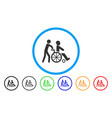 disabled person transportation rounded icon vector image
