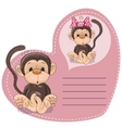 Dreaming Monkey vector image vector image