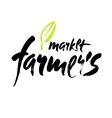 Farmers market hand lettering retro vintage style vector image vector image