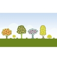 Fruit trees vector image vector image