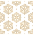 golden snowflakes seamless pattern vector image