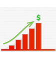 graph growing to the top for money vector image vector image