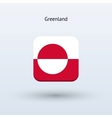Greenland flag icon vector image