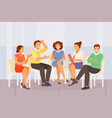 group psychological counseling vector image