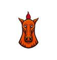 Horse mascot head design element sport emblem