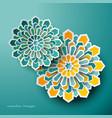 islamic geometric art greeting ramadan vector image vector image