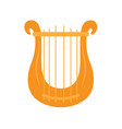 isolated lyre icon musical instrument vector image vector image