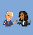 joe biden and kamala harris editorial use only vector image vector image