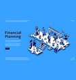 landing page financial planning vector image